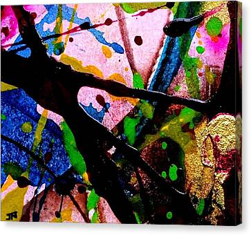 Abstract Expressionism Canvas Print - Abstract 48 by John  Nolan