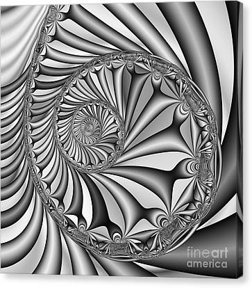 Abstract 527 Bw Canvas Print by Rolf Bertram