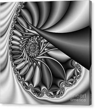 Abstract 530 Bw Canvas Print by Rolf Bertram
