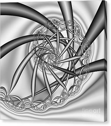 abstract 533 BW Canvas Print by Rolf Bertram