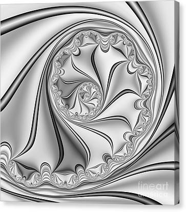 Abstract 534 Bw Canvas Print by Rolf Bertram