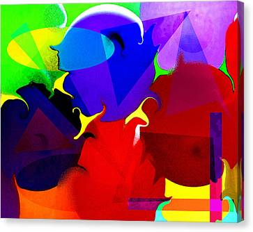 Canvas Print featuring the digital art Abstract 6 by Timothy Bulone