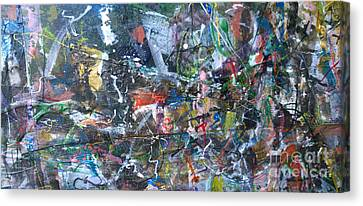 Canvas Print featuring the painting Abstract #69 - Revised by Robert Anderson