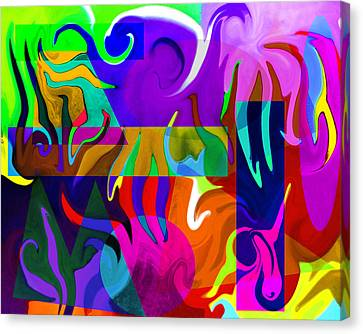 Canvas Print featuring the digital art Abstract 7d by Timothy Bulone