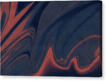 Peaches Canvas Print - Abstract 8 by Art Spectrum