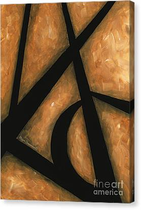 Abstract Acrylic Rust Tan Black Painting Gold Destiny Contemporary Original Painting By Madart Canvas Print