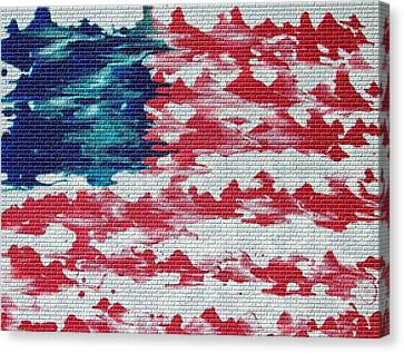 Abstract American Flag  Canvas Print by Brian Roberts