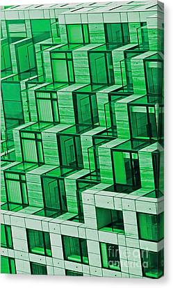 Abstract Architecture In Green Canvas Print by Mark Hendrickson