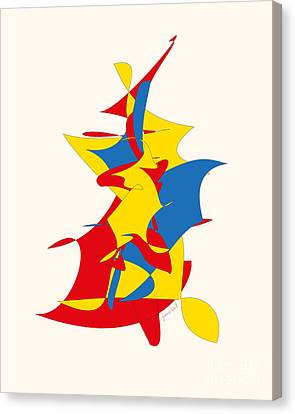 Contemporary Abstract Art M51 Canvas Print by Johannes Murat