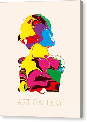 Contemporary Abstract Art M50 Canvas Print by Johannes Murat