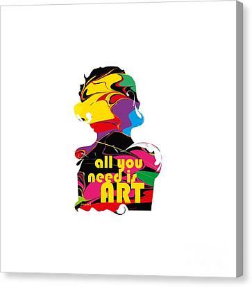 Yes Abstract Art M51,   Art Shirt Canvas Print by Johannes Murat