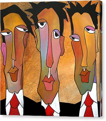 Abstract Art Original Painting - Mad Men Canvas Print by Tom Fedro - Fidostudio