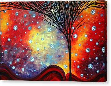 Abstract Art Whimsical Landscape Painting Morning Bliss By Madart Canvas Print by Megan Duncanson