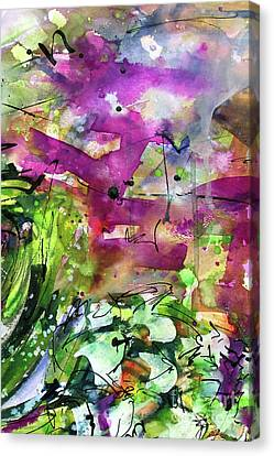 Abstract Arti 1 By Ginette Canvas Print by Ginette Callaway