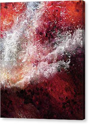 Abstract Artwork Fury Of The Red Seas Canvas Print