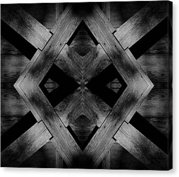 Canvas Print featuring the photograph Abstract Barn Wood by Chris Berry