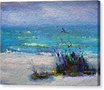 Abstract Beach Pastel Summer Canvas Print