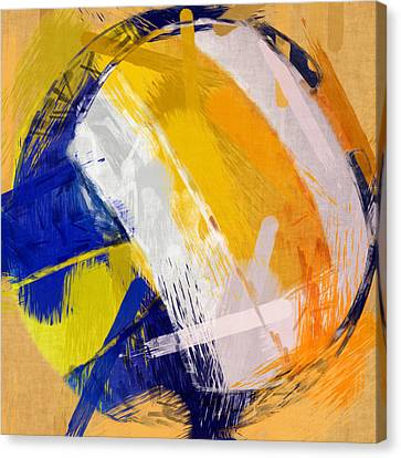 Abstract Beach Volleyball Canvas Print by David G Paul