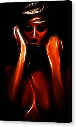 Innocence Canvas Print - Abstract Beauty Painting by Steve K