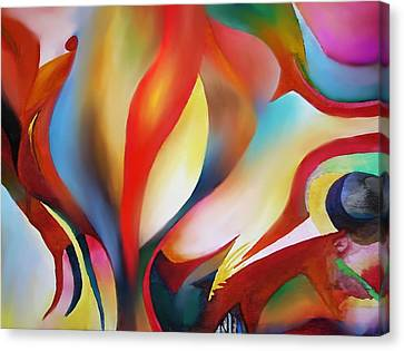 Abstract Beings Canvas Print by Peter Shor