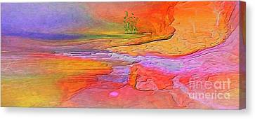 Abstract Beyond The Sea Canvas Print by Sherri's Of Palm Springs