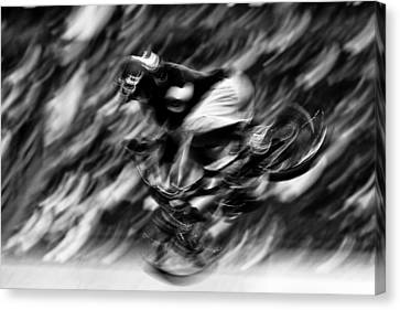 Abstract Black And White  Canvas Print by Mark Courage