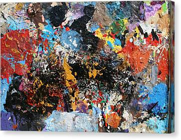Canvas Print featuring the painting Abstract Blast by Melinda Saminski