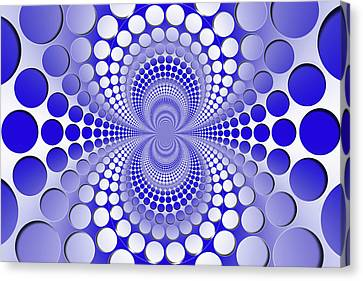 Canvas Print - Abstract Blue And White Pattern by Vladimir Sergeev