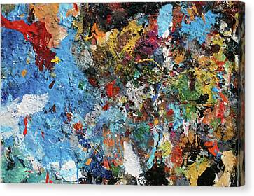 Canvas Print featuring the painting Abstract Blue Blast by Melinda Saminski