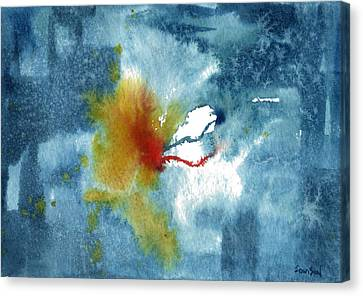 Abstract Blue Red Connect Canvas Print by Sean Seal
