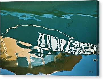 Abstract Boat Reflection Canvas Print