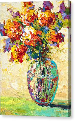 Glass Vase Canvas Print - Abstract Boquet Iv by Marion Rose