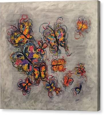 Abstract Butterflies Canvas Print