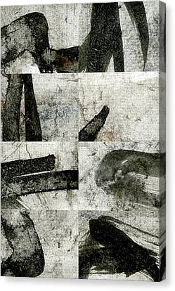 Abstract Calligraphy Collage 1 Canvas Print by Carol Leigh