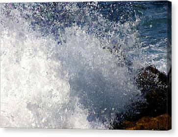 Wavy Canvas Print - Abstract Carmel Wave by Terry Davis