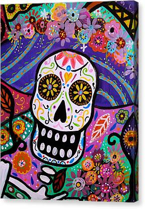 Canvas Print featuring the painting Abstract Catrina by Pristine Cartera Turkus