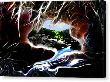 Abstract-cavern Canvas Print by Patricia Motley