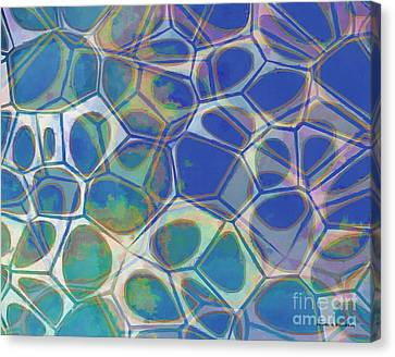Geometric Artwork Canvas Print - Abstract Cells 5 by Edward Fielding