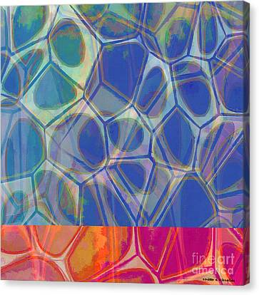 Geometric Artwork Canvas Print - Cells 7 - Abstract Painting by Edward Fielding