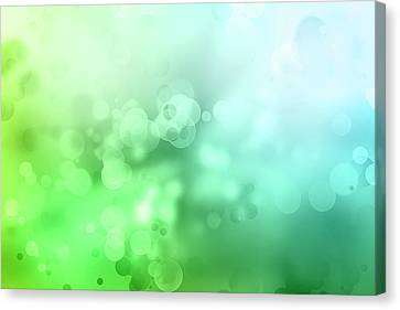 Abstract Circles 7 Canvas Print by Les Cunliffe