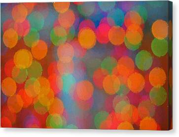 Abstract Circles Of Color  Canvas Print by Terry DeLuco