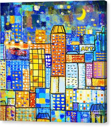 Abstract City Canvas Print by Setsiri Silapasuwanchai