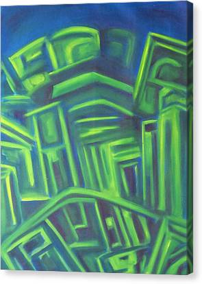 Canvas Print featuring the painting Abstract Cityscape Series IIi by Patricia Cleasby