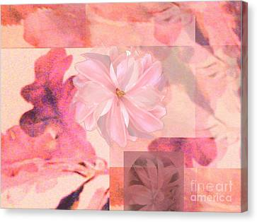 Abstract Collage Floral Canvas Print by Aleksandra Pomorisac