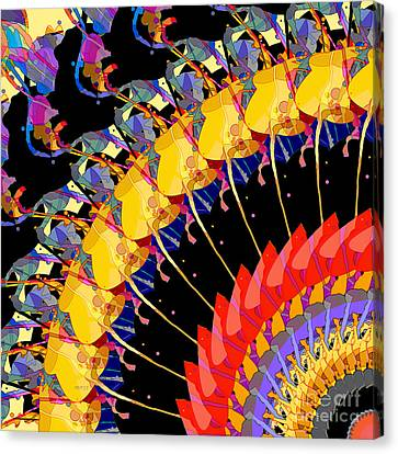 Canvas Print featuring the digital art Abstract Collage Of Colors by Phil Perkins
