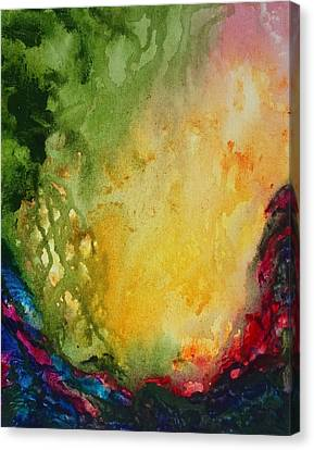 Abstract Color Splash Canvas Print