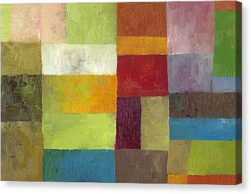 Abstract Color Study Lv Canvas Print by Michelle Calkins