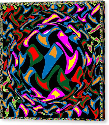 Surprise Canvas Print - Abstract Colorful Art Exploded View Of Whirlwind At Its Builds On Dry Leaves by Navin Joshi