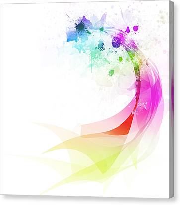 Abstract Colorful Curved Canvas Print by Setsiri Silapasuwanchai