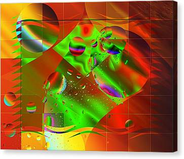 Abstract Covers Canvas Print by Mario Carini